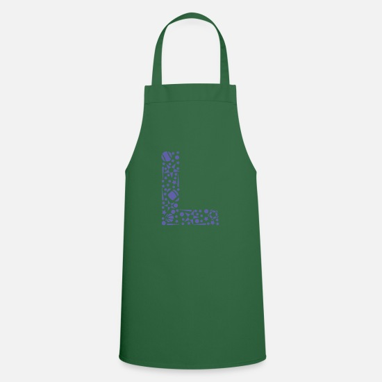 Ball Aprons - Letter L, initial letter L, sports - Apron green