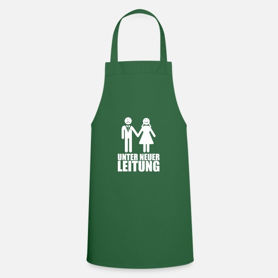 Bride Aprons - under new management in german - Apron green