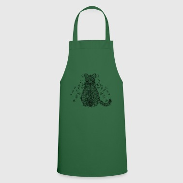 American Indian Cat forest spirit - Cooking Apron