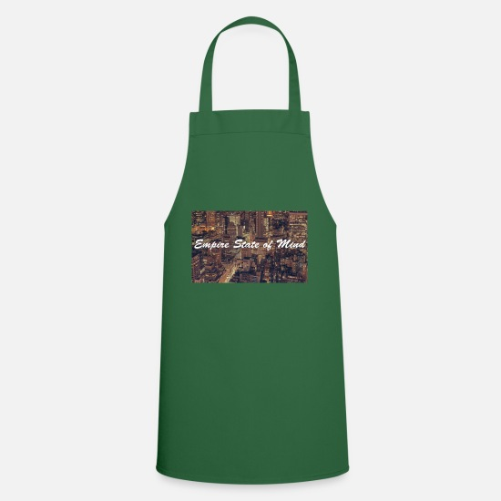 New York Aprons - empire state of mind nyc new york - Apron green