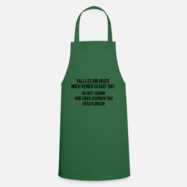 Elevator Compliment notice single men's elevation - Cooking Apron