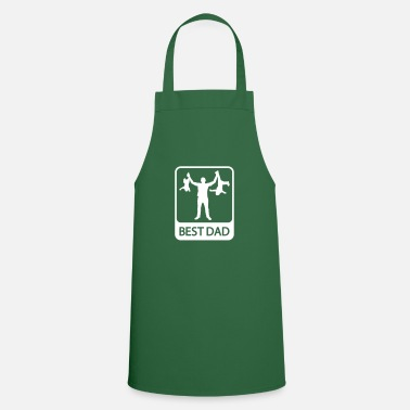 Fathers Day Best Dad - Funny Silhouette - Father and Children - Apron