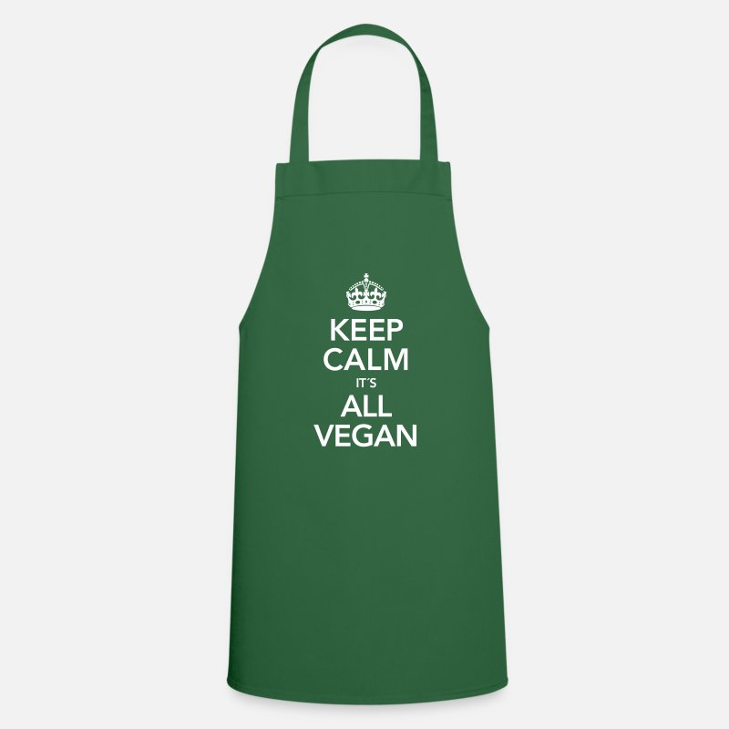 Bestsellers Q4 2018 Aprons - Keep Calm It´s All Vegan - Apron green