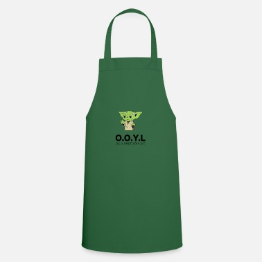 Jedi Yoda pun black - Cooking Apron