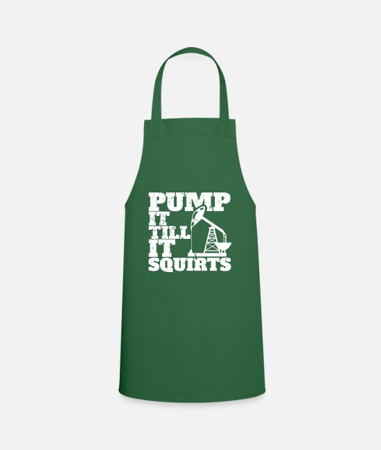 Drilling Aprons - Oil workers - oil field - oil production - Apron green