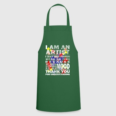 Paint Brush Art artist paint drawing gift - Cooking Apron