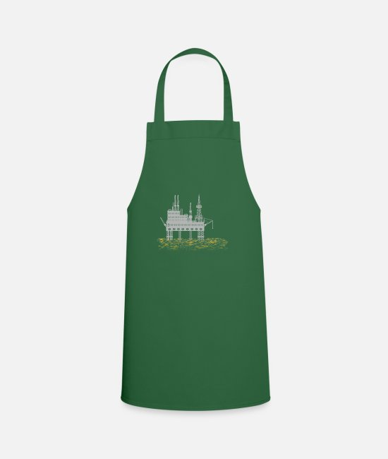 Oil Aprons - Drilling platform - oil rig - Apron green