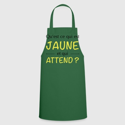 JAUNE ATTEND - Tablier de cuisine
