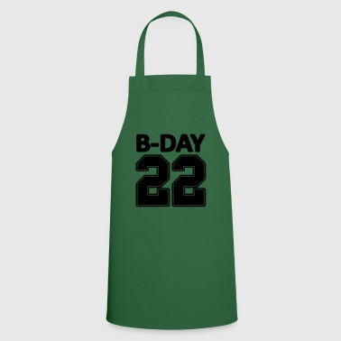 22nd birthday bday 22 number numbers jersey number - Cooking Apron