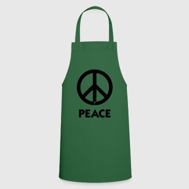 Peace Sign Peace Demo Grunge Flower Power - Cooking Apron