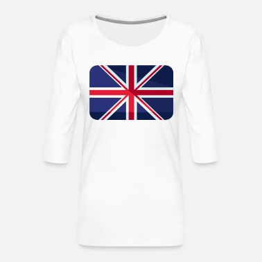 Britain Great Britain Flag Great Britain - Women's Premium 3/4-Sleeve T-Shirt