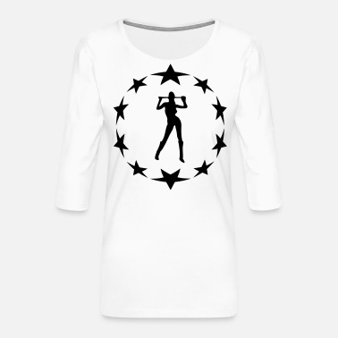 Farewell Underwear stars wreath special - Women's Premium 3/4-Sleeve T-Shirt