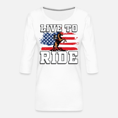Western Western riding - Women's Premium 3/4-Sleeve T-Shirt