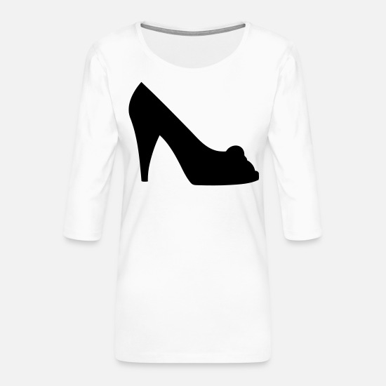Woman Power Long sleeve shirts - Vector highheels Silhouette - Women's Premium 3/4-Sleeve T-Shirt white