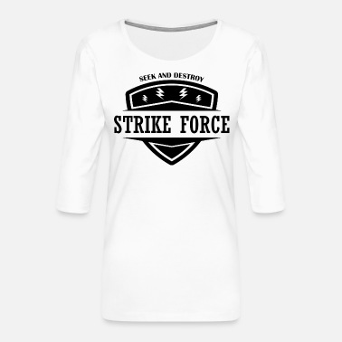 Linebackers - de Strike Force - Vrouwen premium shirt 3/4-mouw