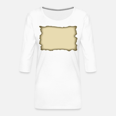 Parchment parchment rectangle - Women's Premium 3/4-Sleeve T-Shirt