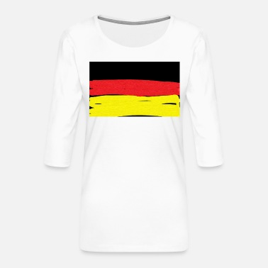 Germany Germany flag - Women's Premium 3/4-Sleeve T-Shirt