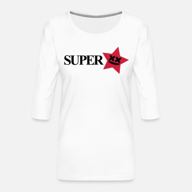 Superstar superstar - Premium-T-shirt med 3/4-ärm dam