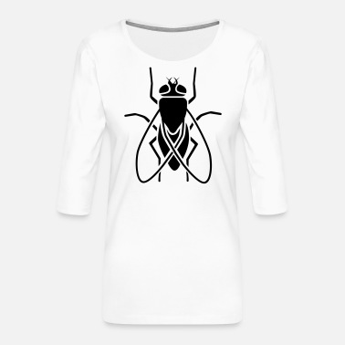 Fly-insect Insect - fly - Women's Premium 3/4-Sleeve T-Shirt