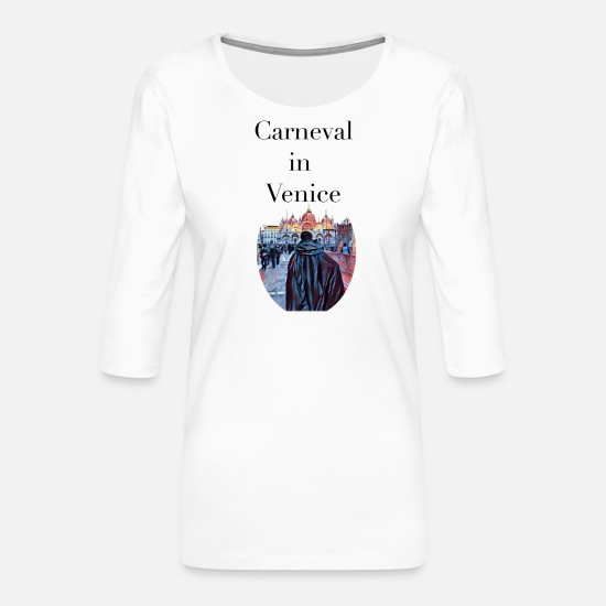 Travel Long sleeve shirts - carneval in venice venice carnival - Women's Premium 3/4-Sleeve T-Shirt white