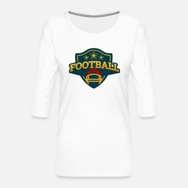 Football Vintage#1 - Frauen Premium 3/4-Arm Shirt