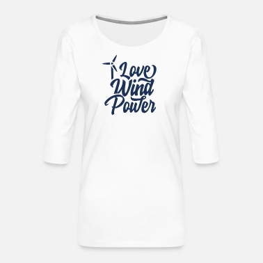 Wind Wind energy wind wheel wind power wind wind turbine - Women's Premium 3/4-Sleeve T-Shirt