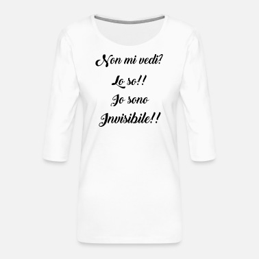 Invisible INVISIBLE #invisible - Women's Premium 3/4-Sleeve T-Shirt