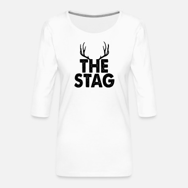 Stag The Stag - Women's Premium 3/4-Sleeve T-Shirt