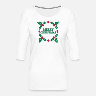 Merry Christmas Merry christmas - T-shirt Premium manches 3/4 Femme