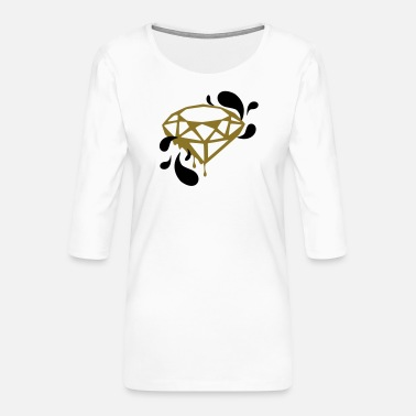 Trippy Trippy Diamond - Women's Premium 3/4-Sleeve T-Shirt