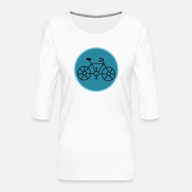 Bicyclette BIKE. CYCLING. GO GREEN. ECOLOGY.ENVIRONMENT. - Women's Premium 3/4-Sleeve T-Shirt