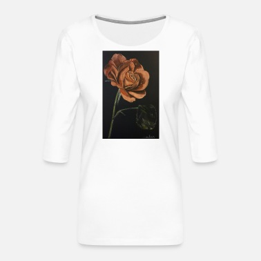 Red Rose Red rose - Women's Premium 3/4-Sleeve T-Shirt