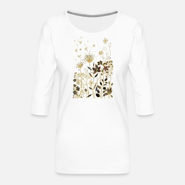 Friend Flowers - Women's Premium 3/4-Sleeve T-Shirt