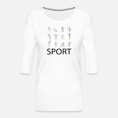 Sports Sport sport sport - Women's Premium 3/4-Sleeve T-Shirt