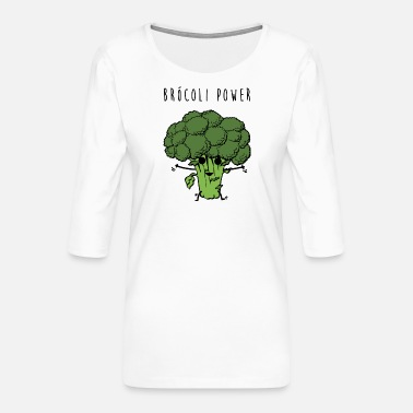 Brocoli Power - Women's Premium 3/4-Sleeve T-Shirt