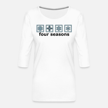 Pictograph The 4 winter times - Women's Premium 3/4-Sleeve T-Shirt