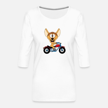Animal Love Hyena - motorcycle - biker - hobby - animal - fun - Women's Premium 3/4-Sleeve T-Shirt