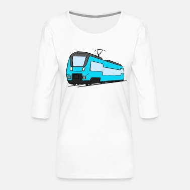 Regional Train Regional train train locomotive railroad model railway - Women's Premium 3/4-Sleeve T-Shirt