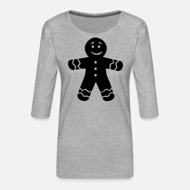 Gingerbread Gingerbread - Women's Premium 3/4-Sleeve T-Shirt