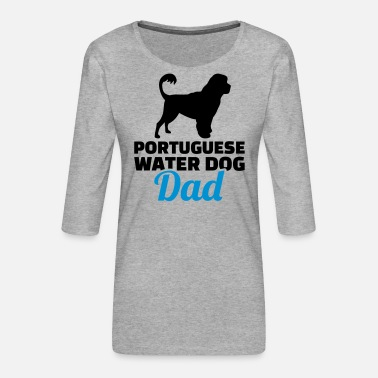 Water Portuguese Water Dog - Women's Premium 3/4-Sleeve T-Shirt