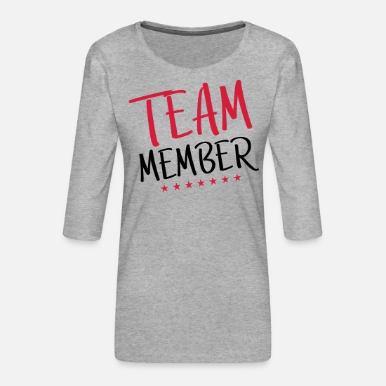 Staff Long sleeve shirts - team member - Women's Premium 3/4-Sleeve T-Shirt heather grey
