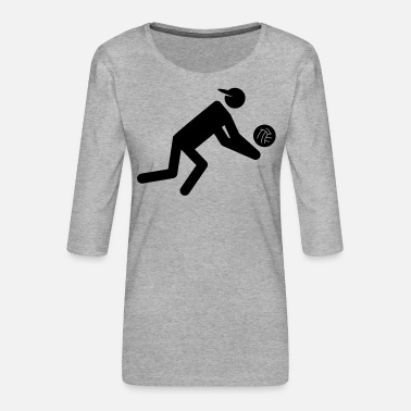 Volley volley - Women's Premium 3/4-Sleeve T-Shirt