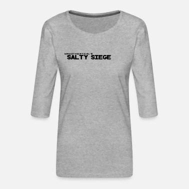 Sieg salty Siege Black - Women's Premium 3/4-Sleeve T-Shirt
