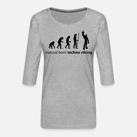 Viking Manches longues - evolution_techno_viking - T-shirt Premium manches 3/4 Femme gris chiné