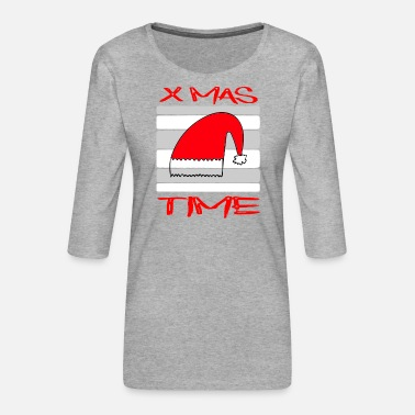 X Mas Time / Reindeer / Sayings / Trend - Women's Premium 3/4-Sleeve T-Shirt