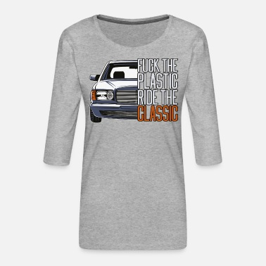 Ftp ftp style retro car classic silhouette - Women's Premium 3/4-Sleeve T-Shirt
