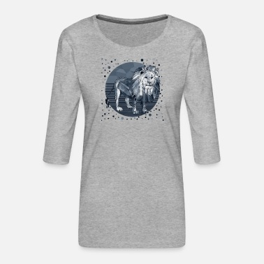 Hipster Lion - Women's Premium 3/4-Sleeve T-Shirt