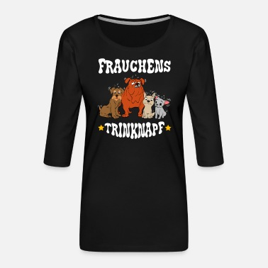 Cute A Nice German Tee For Dog Lovers Frauchens - Women's Premium 3/4-Sleeve T-Shirt