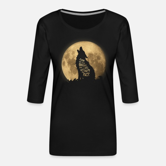 Beau Manches longues - Throw me to the Wolves - T-shirt Premium manches 3/4 Femme noir