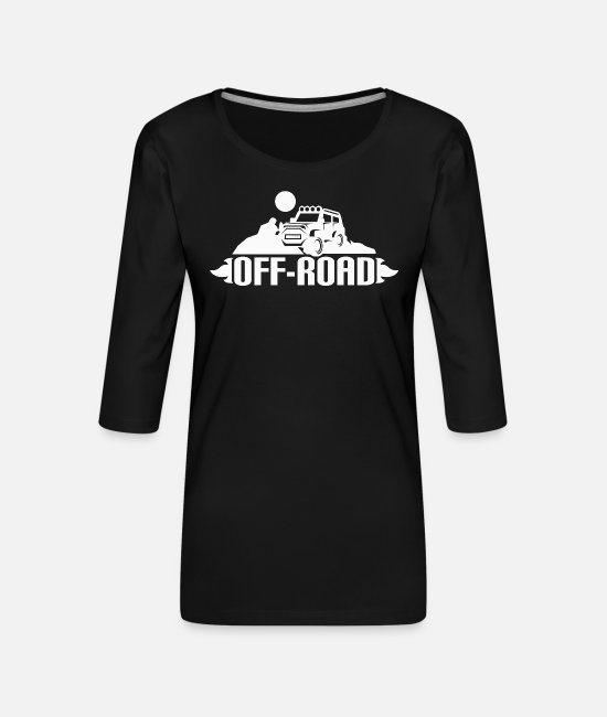 Birthday Long sleeve shirts - Offroad vehicle four wheel drive gift - Women's Premium 3/4-Sleeve T-Shirt black
